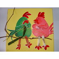 2010 paintings mother gift grandma birds