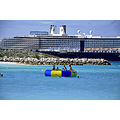msnoordam cruise ship raft sea people halfmooncay bahamas