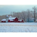 snow barn farm landscape