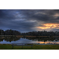 Emo Court Ireland Irish Landscape Lake bench trees water reflections sunrise