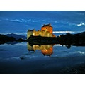 water reflection light Castle Scotland Eileen Donan architecture