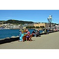 Zooming in on Wellington .... a nice Sunday on the harbour. The piano is for anyone to play ... ...