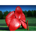 plasticfriday red flower statue chatsworth art exhibition
