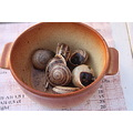 snails cooked bowl