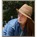 female portrait model hat
