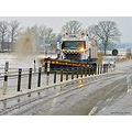 Winter Road Salt Plowing Skane Sweden 2013 Januari