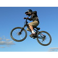 boy mtb mountainbike mountainbiker jump extreme nohands