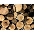 logs snow woodpile