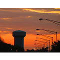 sunset sky watertower landscape
