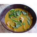 Thaifood: Green curry with pork.
