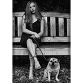 portraitpeoplenatural light doggirlparkbench seat