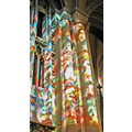 stained glass Gothic cathedral Durham beauty stone mason atmosphere mood