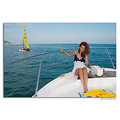 girl woman wife portrait yacht sea summer spain sitges