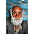 old man 95 street salesman white hair beard