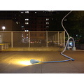 At 7:44pm.A Street light art looks like it melted-part of the Scotiabank Nuit Blanche event-they ...