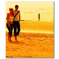 romanticfriday beach stroll couple candid