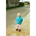 Gemma walking in the puddles... Who am I going to splash next! Cotswolds 1993!