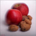 apple apples fruit nuts stilllife autumn fall studio lensbaby
