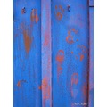 Blue Red foot finger prints Skane Sweden 2008