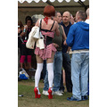 candid brighton pride costume red high heels
