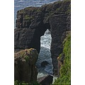 Cliff sea man Ireland waterford Dunmore waves seascape