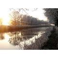 sunrise cold morning canalclub canal trees bltijdenskanaal