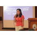 Sheenybel T. Luntao (Healthy Lifestyle Program & REDCOP Coordinator-Bayawan City) giving the rati...
