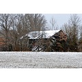 winter barn old barn farming pasture snow
