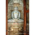 idol of jain tirthankar in temple in jaisalmer rajasthan india