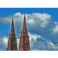 steepleclub steeple clouds church sky