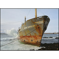 ship bow rust shipwreck accident rocks beach Grindavik drunk captain