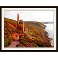 Cornish tin mine wheal coates sunset HDR effect