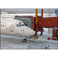 plane airplane airport sweden SAS snow weather snowing ramp