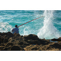 Fisherman fishing man sea fish water exploding