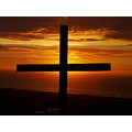 Sunset Cross Wales Coast Sea Nature compftorange
