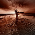 surreal fantasy landscape sea inch beach ireland bloody sunset voltrik keitology