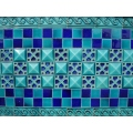 Pakistan Punjab Multan Beauty Heritage Tiles Blue Design Texture