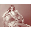 glamour boudoir female negligee sepia model