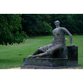 statue Henry moore draped seated woman yorkshire sculpture park