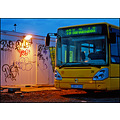 yellow bus busstop stop night graffiti red gravel 19 iceland