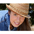 portrait female model hat