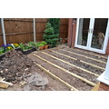 Last week we had the pave patio ripped up - the chair legs kept falling between the slabs and it ...