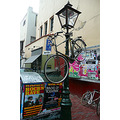 bicycle hanging streetlight leiden jeever jolie
