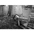 blackwhite bw alley trash garbage chair
