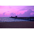 purple magenta sky pier seaocean beachfishingFlorida