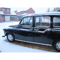 taxi london cab snow