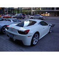 At 7:57pm-Exotic Sports Car-Ferrari-back side view-at Maple Leaf Square-Toronto,Ont.,On Saturday,...