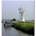 Windpump Mooring Norfolk Broads Boat
