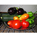 Fruit vegetables gift friends neighbours colourful home spain canon g11 aug2011