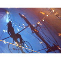 circus highwire tightrope shaddow light show